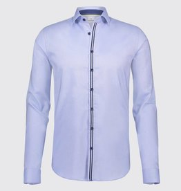 Blue Industry Tape Detail Dress Shirt