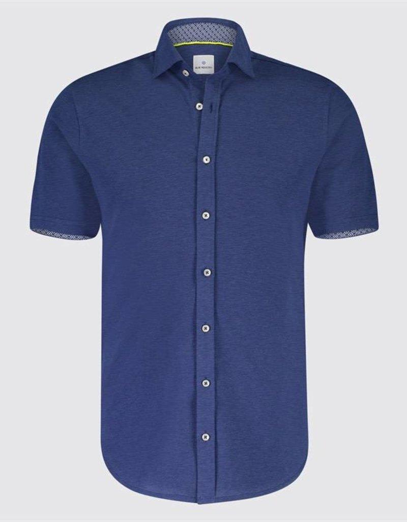 Blue Industry Jersey Button Up Shirt