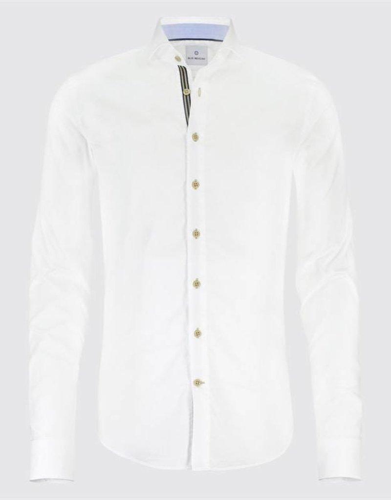 Blue Industry Tape Detail Dress Shirt
