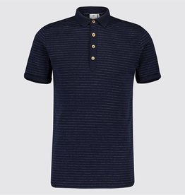 Blue Industry Striped Polo