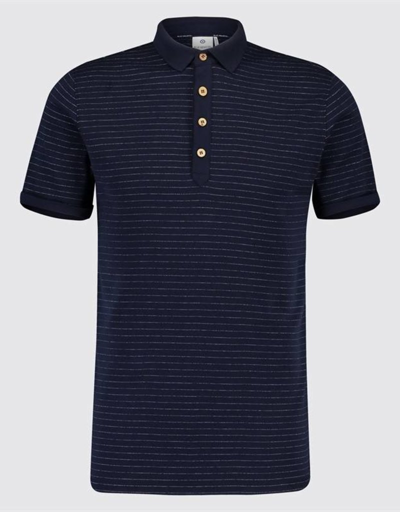 Blue Industry Striped Polo Shirt