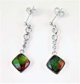 Korite Ammolite Dangle Earrings
