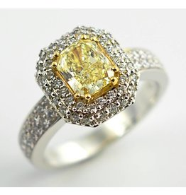 Yellow Diamond Halo (2.17ctw)