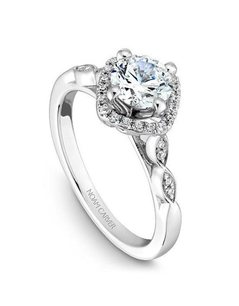 Noam Carver Ladies Halo Semi-Mount Ring (0.15ctw)