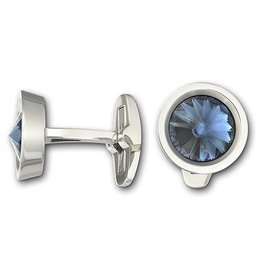 Swarovski Round Cuff Links