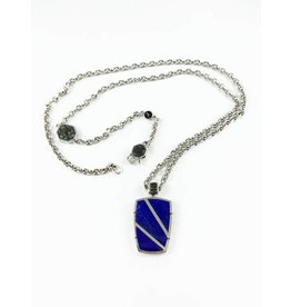Noam Carver Lapis Pendant & Chain