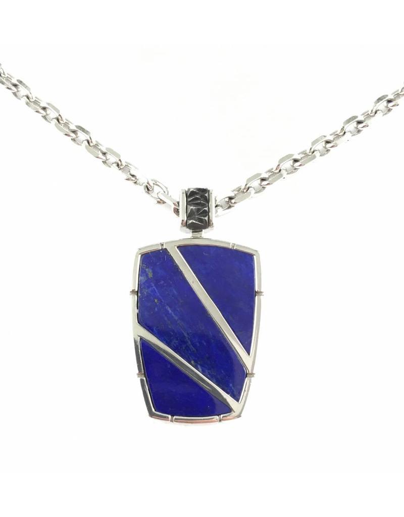 Noam Carver Lapis Lazuli Pendant & Chain SS