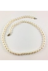 Freshwater (6-6.5mm) Pearl Necklace (White Gold Clasp)