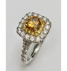 Fancy Coloured Diamond Halo (1.34ctw)