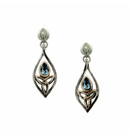 Keith Jack Blue Topaz Guardian Angel Earrings