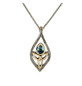 Keith Jack Blue Topaz Guardian Angel Pendant