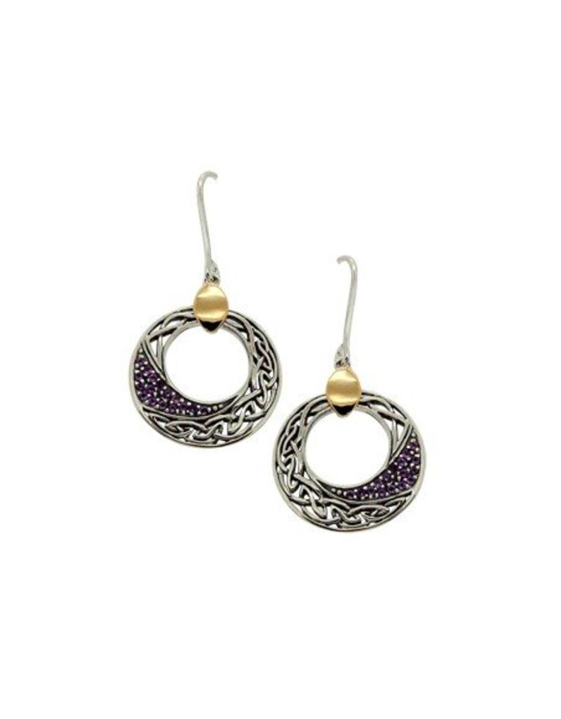 Keith Jack Comet Amethyst Earrings SS/10KY