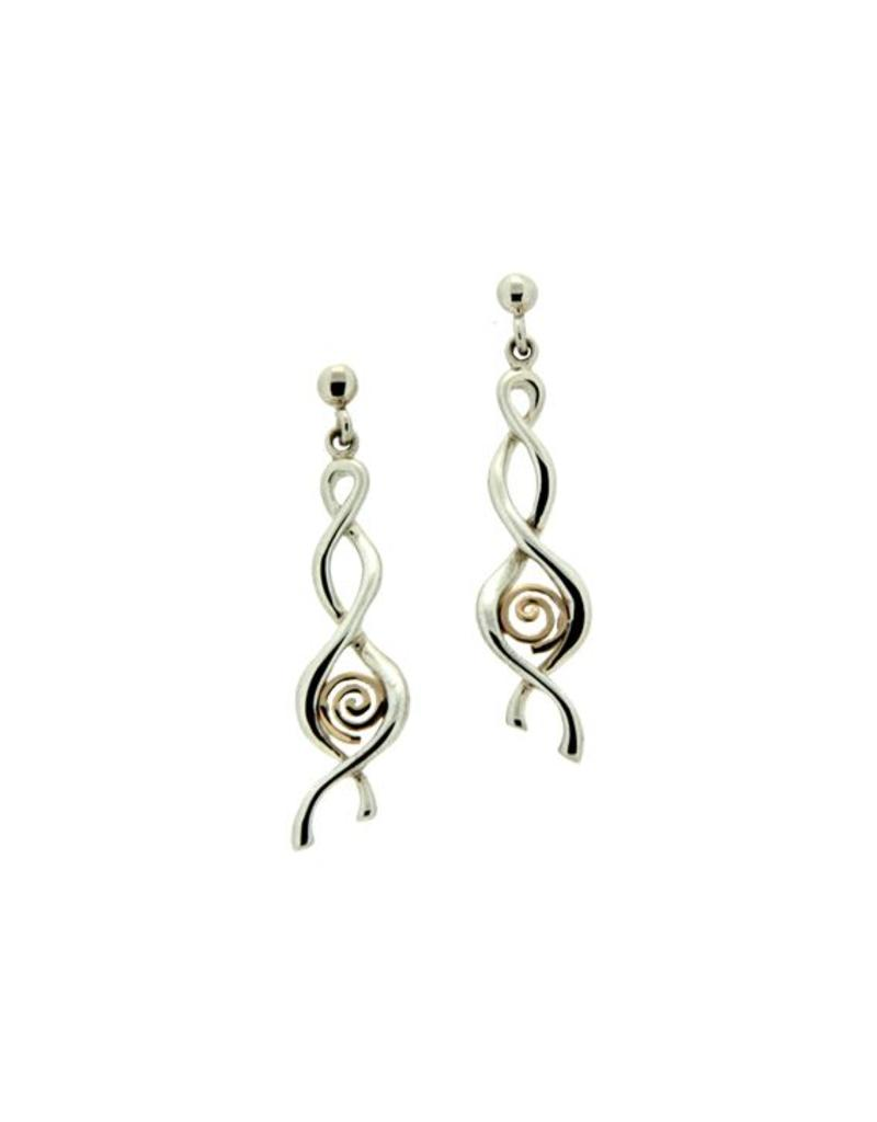 Keith Jack Spiral Earrings SS/10KY