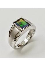 Korite Square Ammolite Ring