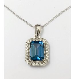 Topaz & Diamond Pendant