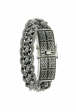 Keith Jack Norse Forge Dragon Weave Bracelet Sterling Silver