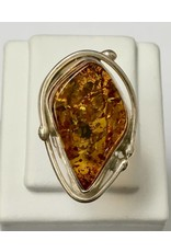 Baltic Amber Ring SS