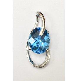 2.98ct Topaz & Diamond Pendant
