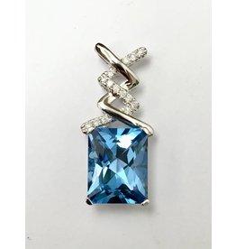 3.83ct Topaz & Diamond Pendant