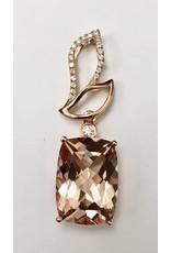 5.50ct Morganite & Diamond Pendant 14KR