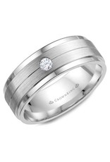 Crown Ring Gent's Diamond Wedding Band 10KW