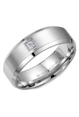 Crown Ring Princess Diamond Sandpaper/Polished Ring 10KW