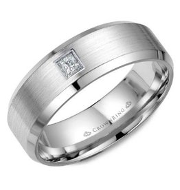 Crown Ring Gent's Diamond Wedding Band