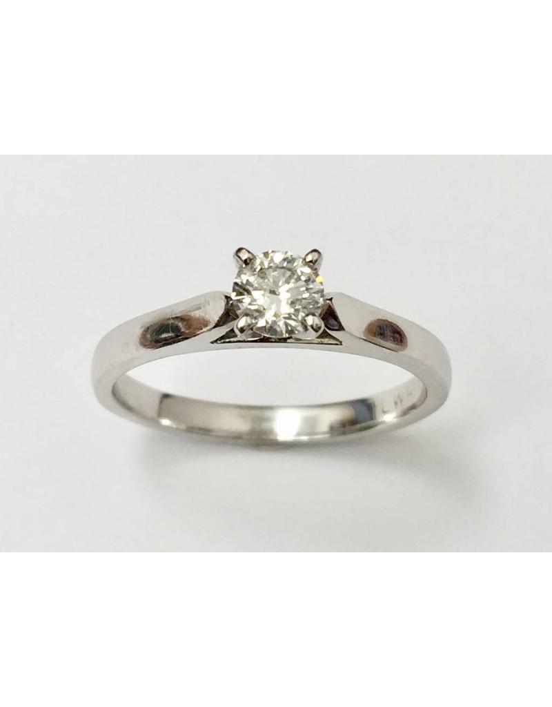 Round Solitaire Diamond Ring (0.33ct) 14KW