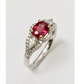 1.19ct Ruby & Diamond Ring