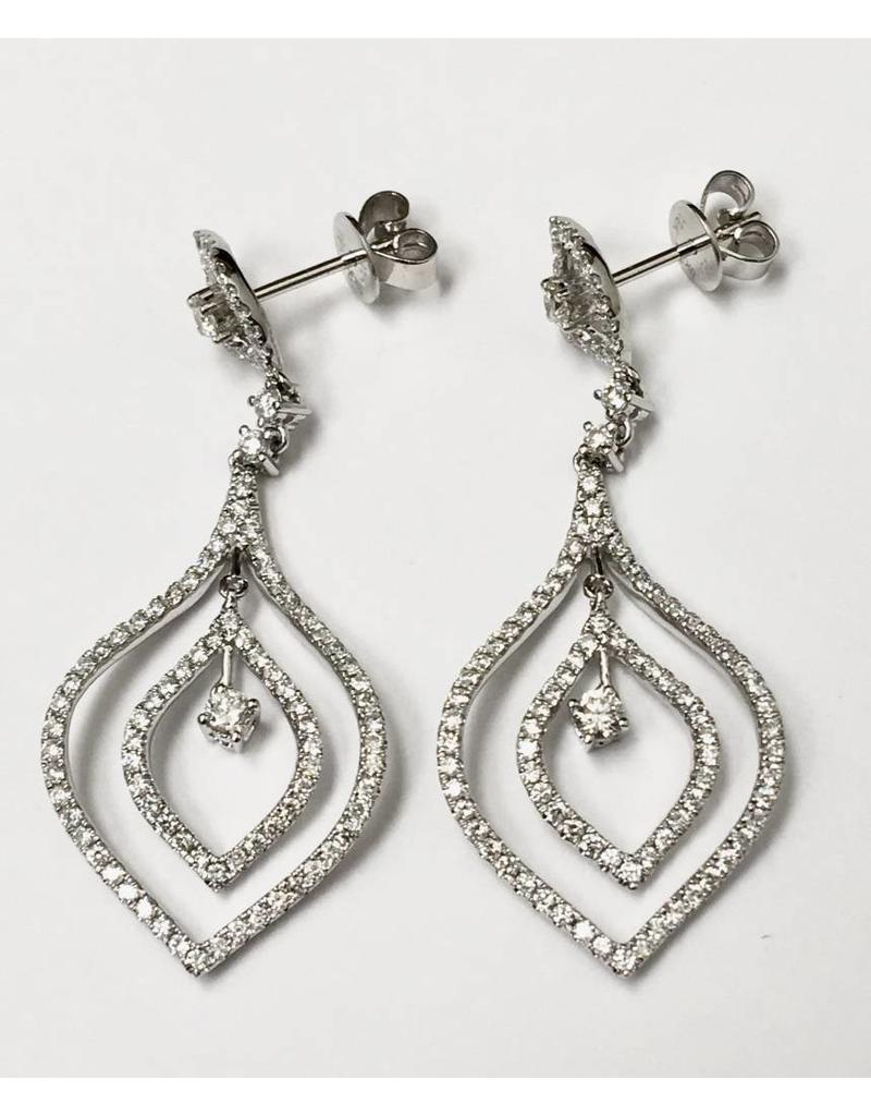 Multi Dangle Diamond Earrings 18KW