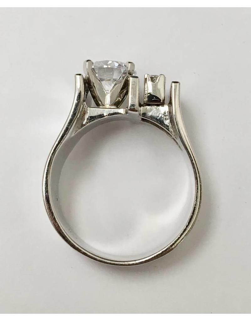 Contemporary Diamond Ring Semi-Mount 14KW