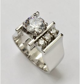 Contemporary Diamond Ring Semi-Mount