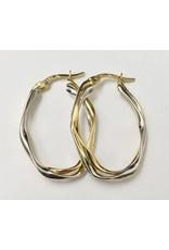 30mm Oval Hoop Earrings 10KWY