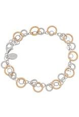 Frederic Duclos Sparkle Ring Bracelet SS/RGP