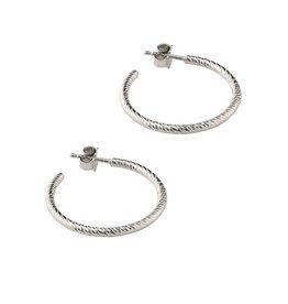 """Frederic Duclos Sparkle Hoop Earrings (1"""")"""