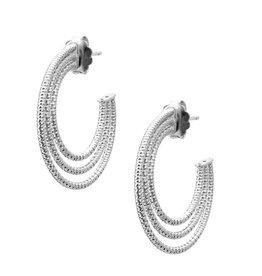 Frederic Duclos Triple Hoop Earrings