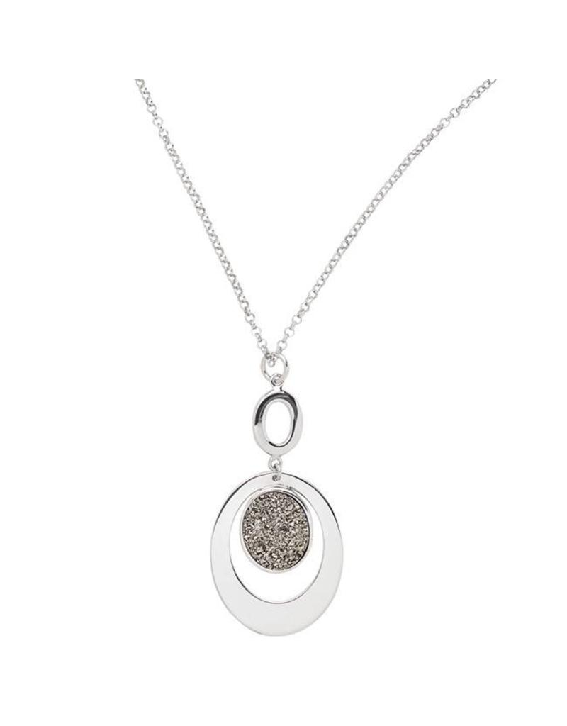 Frederic Duclos Lightning Oval Necklace SS