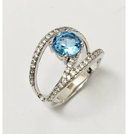 Blue & White CZ Ring