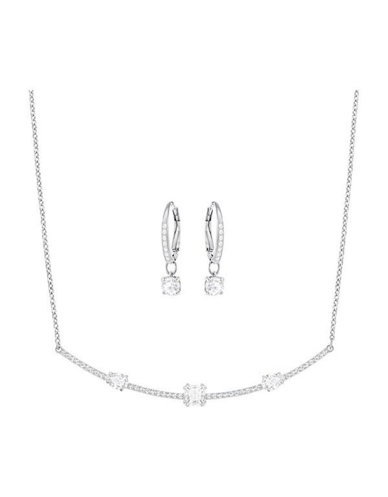 Swarovski Swarovski Gray Necklace & Earrings Set