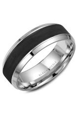 Crown Ring Black Carbon & Gold Ring 14KW (Blue Royale)