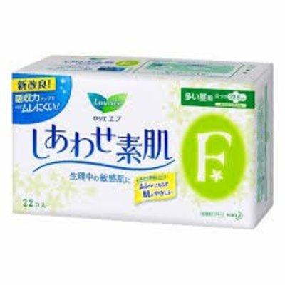 花王樂而雅素肌22片量多日用護翼衛生巾(棉柔面)22.5cm