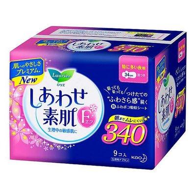 花王樂而雅f超量多夜用衛生巾 34Cm 9片