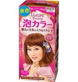 花王Prettia泡沫染髮膏优雅蜜桃粉棕