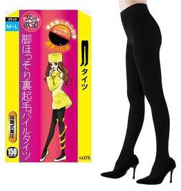 女的欲望發熱壓力保暖加絨瘦腿連褲襪極厚(黑色150D M-L)