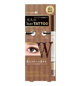 K- Palette K- Palette 1 Day Tattoo 雙頭眼線眼影筆 Black X Camel Brown