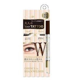 K- Palette K- Palette 1 Day Tattoo 雙頭眼線眼影筆 Deep Brown X Nude Beige