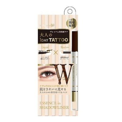 K- Palette K- Palette 1 Day Tattoo 雙頭眼線眼影筆 Deep Brown X Nude Beige