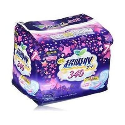 花王樂而雅夜用衛生巾7片超吸收量多34cm