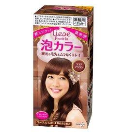 花王Prettia泡沫染髮膏可可布朗棕色