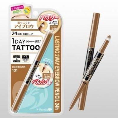 K- Palette K- Palette 1 Day Tattoo 持久防水雙頭眉筆 101淺棕色